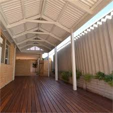 Softwoods 8 4 X 2 4m Colorbond Patio Gable Roof Kit Bunnings Warehouse
