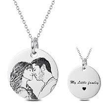 photo engraved necklace com