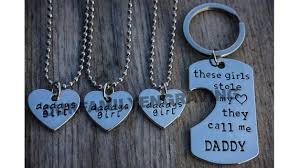 father daughter hand stamped set little