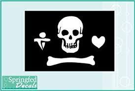 Amazon Com Stede Bonnet S Jolly Roger Pirate Flag 5 Vinyl Decal Car Truck Window Sticker Automotive