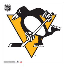 Pittsburgh Penguins 36x36 Team Logo Repositional Wall Decal Hhofecomm