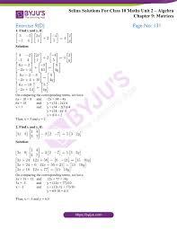 mathematics class 10 chapter 9 matrices