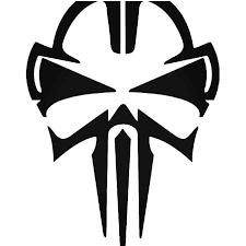 Car Window Sticker Choose Color Size The Punisher Skull Logo Vinyl Decal
