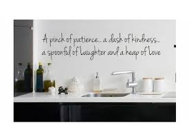 Kitchen Wall Quote Sign Vinyl Decal Sticker Pinch Of Patience Etsy