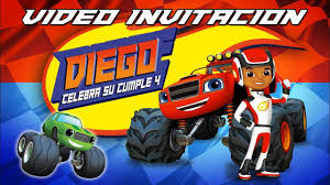 Blaze And The Monster Machines Invitacion Youtube