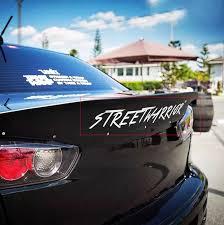 Sport Racing Rear Trunk Spoiler Street Warrior Letter Graphics Reflective Sticker Decal Vinyl For Mitsubishi Evo Lancer Car Stickers Aliexpress