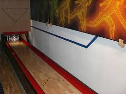 half scale bat bowling lane bowl