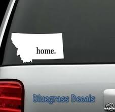 E1025 Montana Home State Decal Sticker Car Truck Suv Van Laptop Mirror Art Ebay