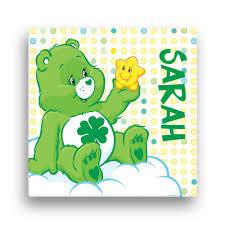 Gettington Care Bears Good Luck Bear 12 X 12 Canvas Wall Art