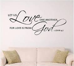 Lets Us Love One Another Wall Decal Scripture Wall Art 1 Etsy