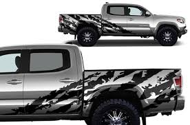 Toyota Tacoma 4d 2016 2020 Short Bed Decal Wrap Kit Shred Factory Crafts