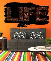 Vinyl Wall Decal Sticker Life Words Design 5160 Stickerbrand