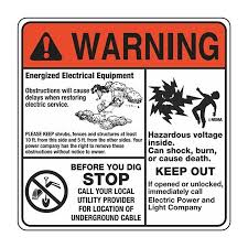 Electrical Decals Warning Room To Work Mr Ouch Stop Before You Dig 6 X 6 Carlton Industries