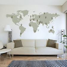 Large World Map Wall Decal Sticker 7ft X 3 47ft Vinyl Wall Stickers Decals With Pins Map Wall Decal World Map Wall Decal Elegant Wall Art