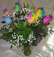 rainbow roses available on feb 12th for