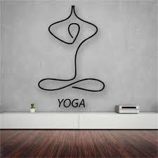 Yoga Meditation Living Room Decor Vinyl Wall Decal Sticker For Home Decoration Yoga Meditation Room Yoga Studio Design Yoga Decor