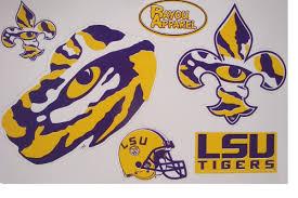 Bayou Apparel Lsu Tigers 5 Die Cut Decal Medley Purple And Gold Sports