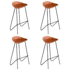 vidaxl bar chairs 4 pcs brown real