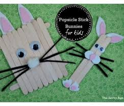 Easter Popsicle Stick Bunnies For Kids The Savvy Age