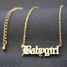 gold or silver babygirl necklace