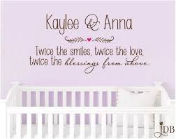 Personalized Twice The Smiles Twice The Love Twice The Blessings From Above Wall Decal Wall Decals How To Apply No Response