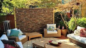 30 faux brick and rock panel ideas