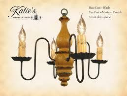 Abigail Wood Chandelier - Black/Mustard Crackle – Pine Cone Gift Shoppe