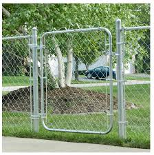 38 X 48 Galvanized Steel Fence Gate Walk Through Chain Link Tubing Pedestrian 99713008991 Ebay Chain Link Fence Gate Chain Link Fence Fence Gate