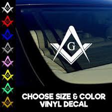 Freemason Decal Sticker Compass Masonic Illuminati Mason Window Car Truck Ebay