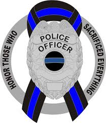 Donation Decal Police Officer Shield Honor Those Sacrificing Everything Thin Blue Line Ribbon Policetees Com