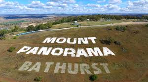 drone mt panorama nsw sign at top of mountain - YouTube