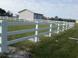 3 Rail Vinyl Horse Fence
