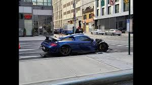 Porsche gemballa Mirage GT CRASH in NYC ...