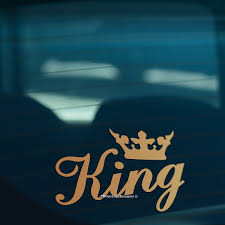 King Crown Gold Funny Car Window Bumper Or Laptop Dub Drift Vinyl Decal Sticker Geek