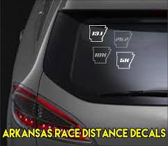 Arkansas Race Distance Vinyl Decal 2 Sizes Rev D Up Ink