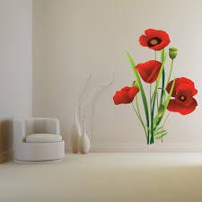 Bouquet Red Poppy Flower Floral Wall Decal Sticker Ws 44991 Ebay