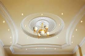 room gypsum ceiling view