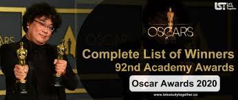 o awards winners 2020 pdf