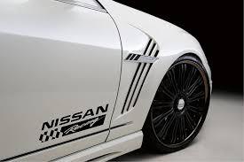 Amazon Com Decals Usa Fits Nissan Racing Z350 Z370 Sentra Maxima Altima Versa Decal Sticker Emblem Logo Black Automotive