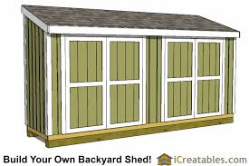 4x16 lean to shed plans 4x16 storage