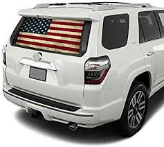 Amazon Com Gold Fish Decals Rear Window Perforated See Thru Graphic Decal Sticker Compatible With Toyota 4runner 2009 2020 Us4 Automotive