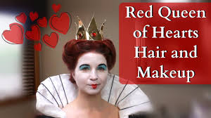 red queen of hearts hair and makeup