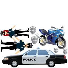 Kids Policeman Wall Sticker 290 Policeman Wall Sticker Police Car Wall Stickers Are A Fun And Creative Way To Decorate Your Child S Playroom