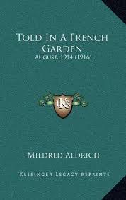 french garden august 1914 1916