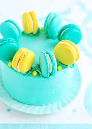 lemon blueberry macaron delight cake