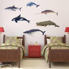 Shop Whales Dolphin And Shark Wall Decal Overstock 18658436