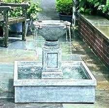 bird bath fountain home depot solar