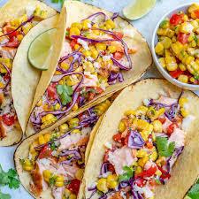 Salmon Tacos With Corn Salsa Recipe ...