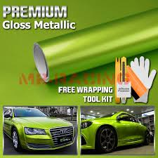 Car Truck Parts 4x8 Sample Premium High Gloss Metallic Lime Green Car Vinyl Wrap Sticker Decal Car Truck Decals Stickers Moonnepal Com