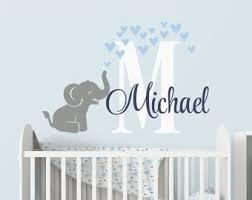 Elephant Name Decal Etsy